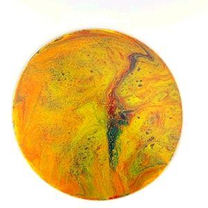 COPY - Original art abstract painting yellow oran…